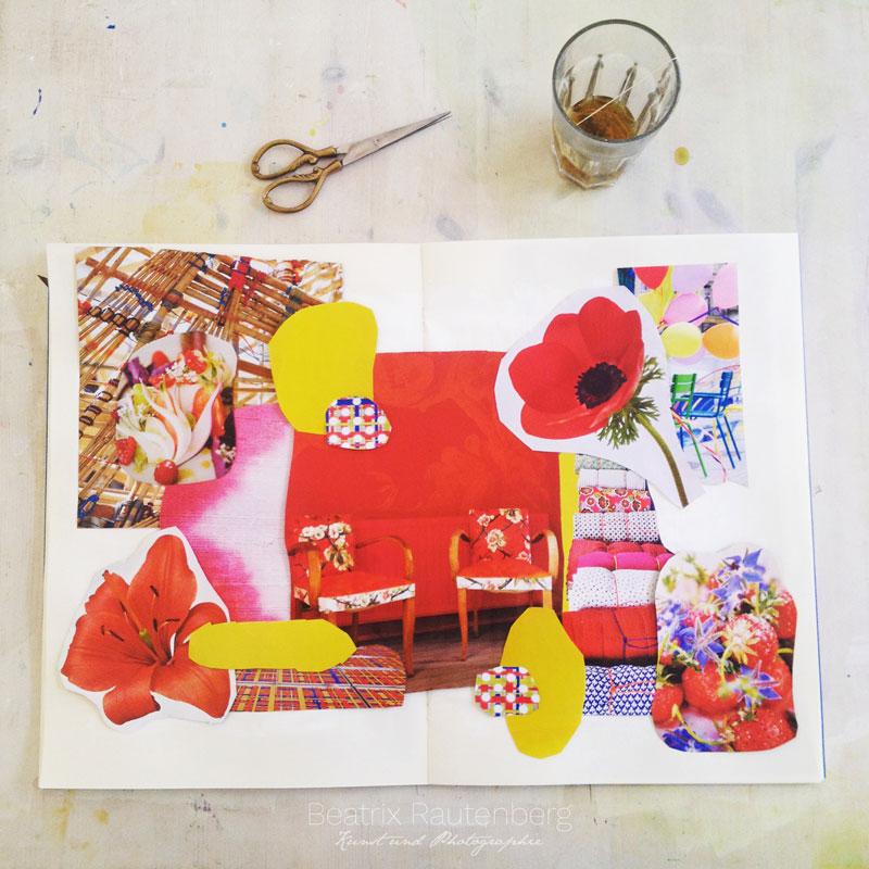 Inspirationscollage-Chakra-Rot