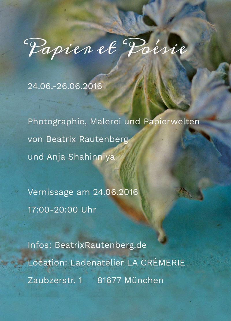 Einladung zu Papier et Poesie